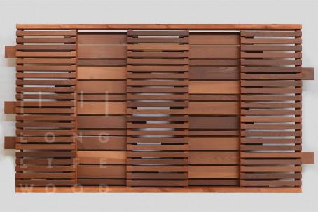 Забор термообработанный ясень (светлый) - 1