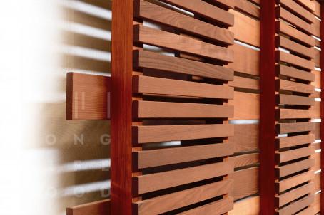 Забор термообработанный ясень (светлый) - 3