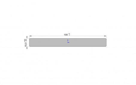 HOLZDORF Декоративная планка Impress/Impress 100*10 - 2