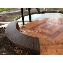 Скамейка из террасной доски из Renwood Massive