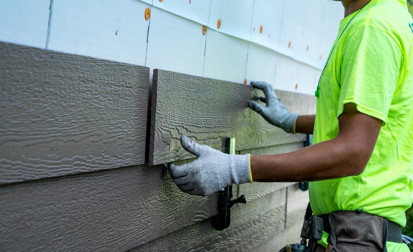как крепить фасадную доску